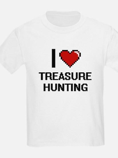I love Treasure Hunting digital design T-Shirt