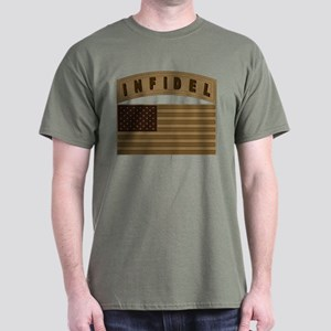 Desert US Infidel Patch Dark T-Shirt