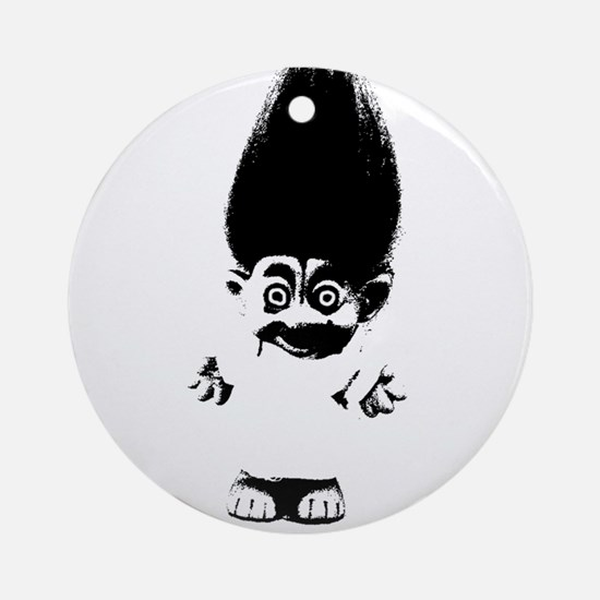 Cute Troll Round Ornament