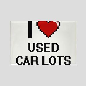 I love Used Car Lots digital design Magnets
