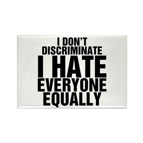 Hate Equally Rectangle Magnet (10 pack)