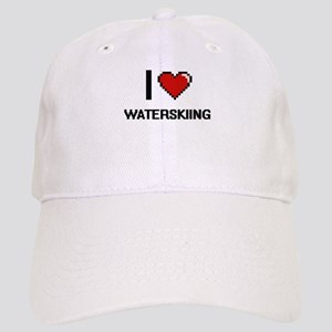 I love Waterskiing digital design Cap