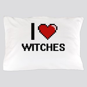 I love Witches digital design Pillow Case