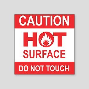 Caution Hot Surface Sticker