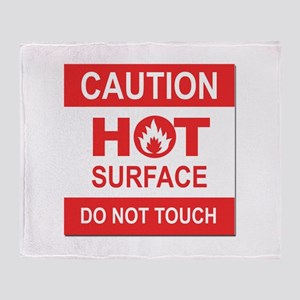 Caution Hot Surface Throw Blanket