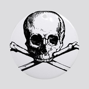 Skull and Bones Round Ornament