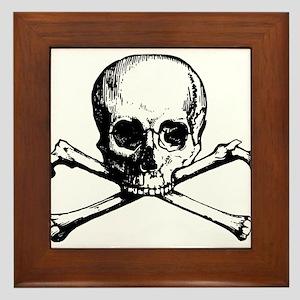 Skull and Bones Framed Tile