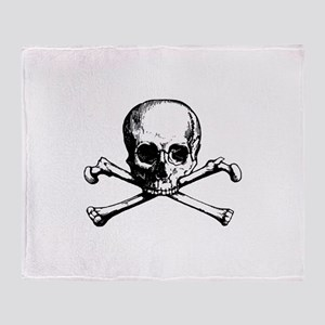 Skull and Bones Throw Blanket