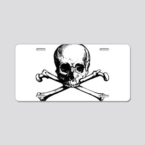 Skull and Bones Aluminum License Plate