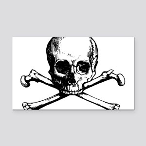 Skull and Bones Rectangle Car Magnet