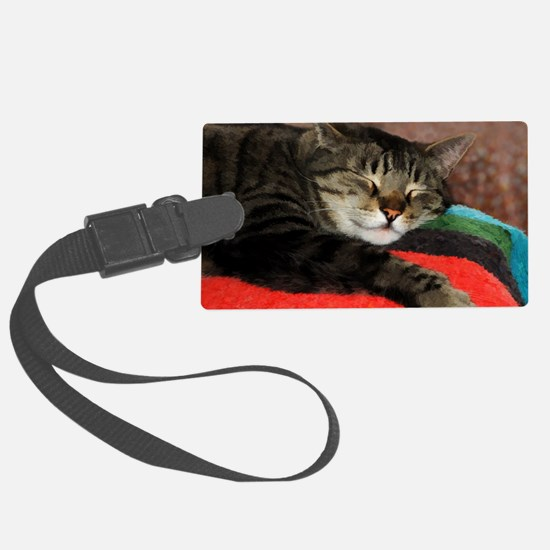 Cat Snoozing Luggage Tag