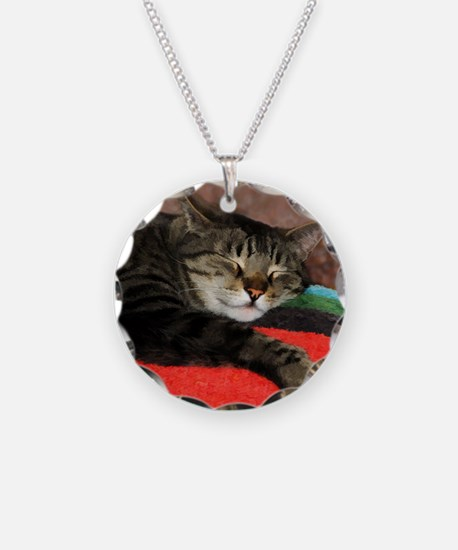 Cat Snoozing Necklace