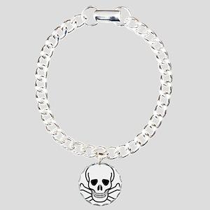 Skull and Bones Charm Bracelet, One Charm