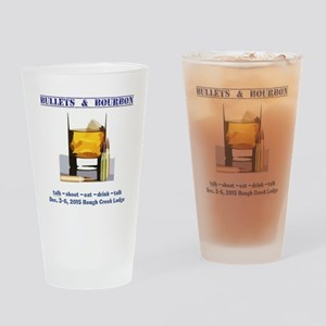 1ST BULLETS AND BOURBON EVENT Drinking Glass