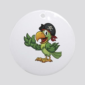 Pirate-Parrot Round Ornament