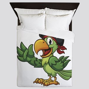 Pirate-Parrot Queen Duvet