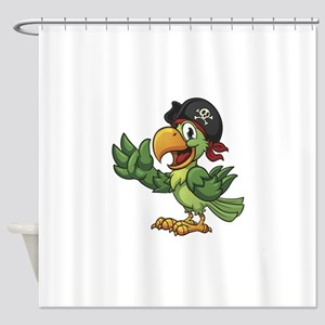 Pirate-Parrot Shower Curtain