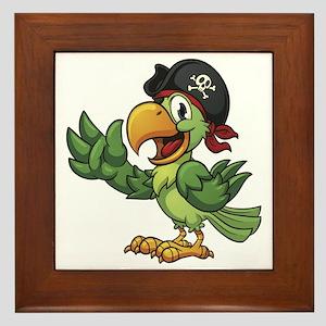 Pirate-Parrot Framed Tile