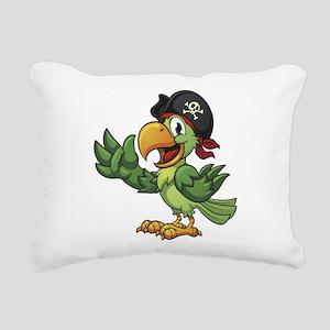 Pirate-Parrot Rectangular Canvas Pillow