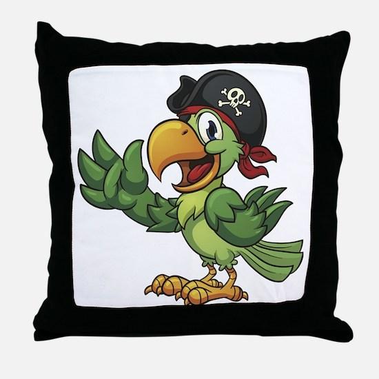 Pirate-Parrot Throw Pillow