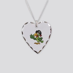 Pirate-Parrot Necklace Heart Charm