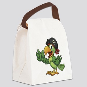 Pirate-Parrot Canvas Lunch Bag