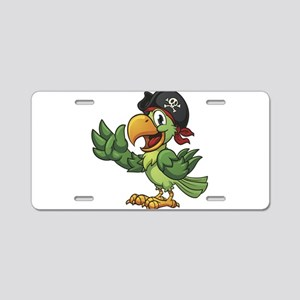 Pirate-Parrot Aluminum License Plate