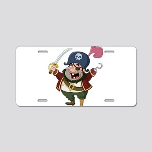 Pirate Aluminum License Plate