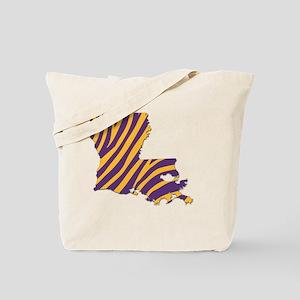 Louisiana Tiger Stripes Tote Bag