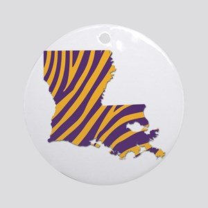 Louisiana Tiger Stripes Round Ornament