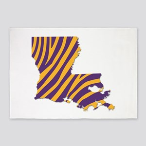 Louisiana Tiger Stripes 5'x7'Area Rug