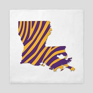 Louisiana Tiger Stripes Queen Duvet