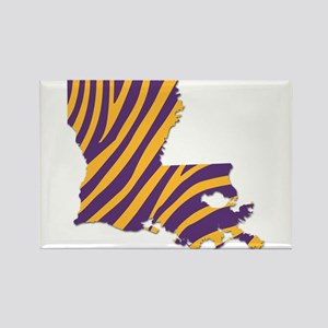 Louisiana Tiger Stripes Magnets
