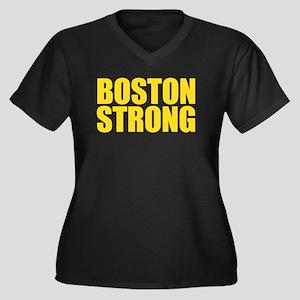 Boston Stron Women's Plus Size V-Neck Dark T-Shirt