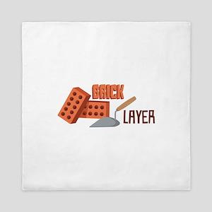 Brick Layer Queen Duvet