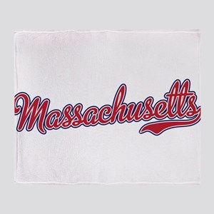 Massachusetts Script Font Throw Blanket