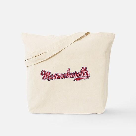Massachusetts Script Font Vintage Tote Bag