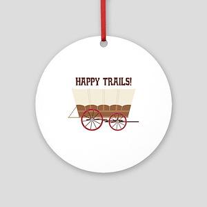 Happy Trails Round Ornament