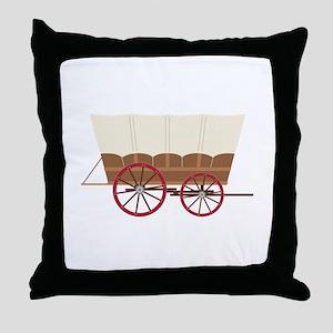 Prairie Wagon Throw Pillow