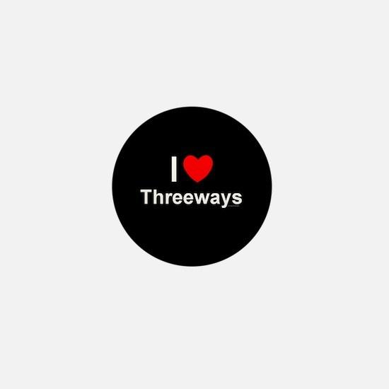 Threeways Mini Button