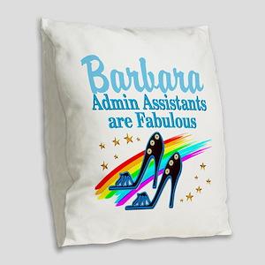 CUSTOM ADMIN ASST Burlap Throw Pillow