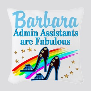 CUSTOM ADMIN ASST Woven Throw Pillow