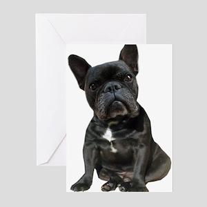 French Bulldog Puppy Por Greeting Cards