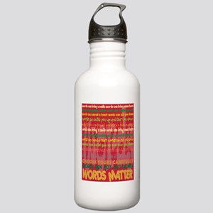 Words Matter Stainless Water Bottle 1.0L