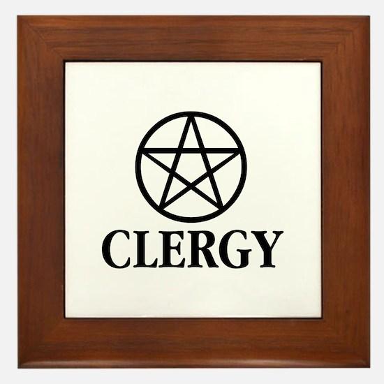 Wicca Clergy Framed Tile