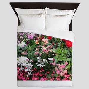 Flowers in bloom, Anchorage, Alaska, U Queen Duvet
