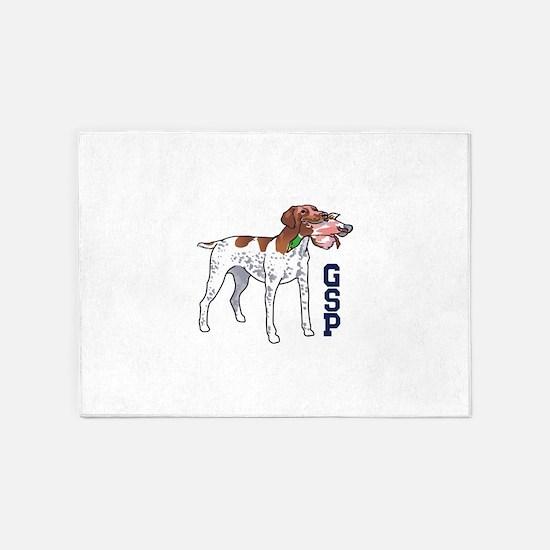 GSP HUNTING DOG 5'x7'Area Rug