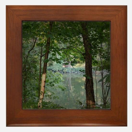 Cute Forest Framed Tile