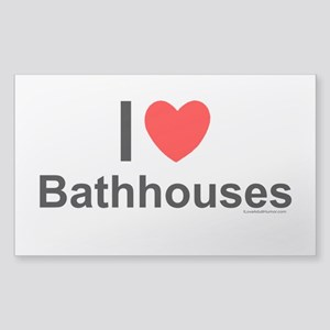 Bathhouses Sticker (Rectangle)