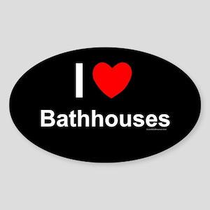 Bathhouses Sticker (Oval)